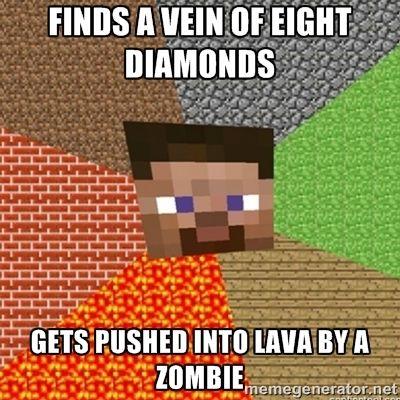 Minecraft Steve Via Meme Generator Minecraft Memes Minecraft Logic Minecraft Funny