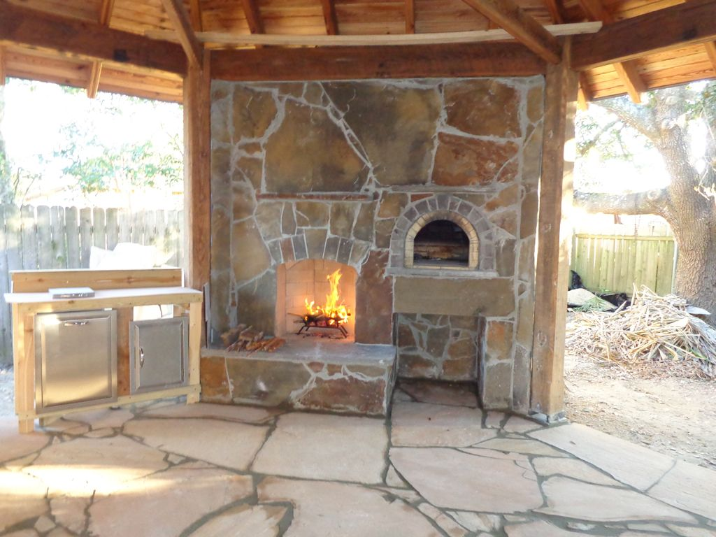 diy outdoor fireplace and pizza oven | fireplace in 2018 | pinterest