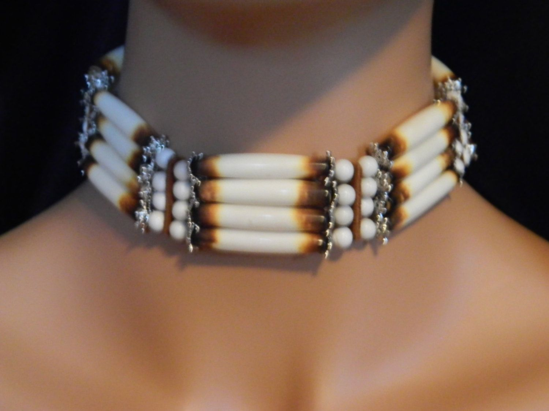 Zuni tribe birds of flight double strand necklace