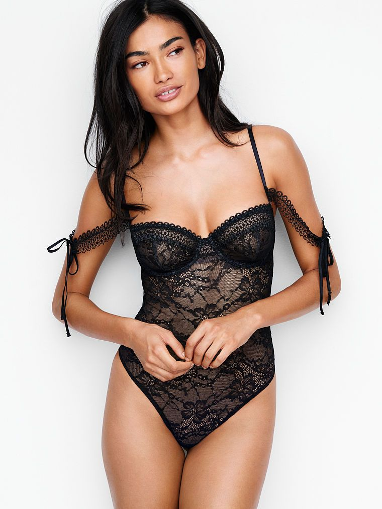 3523c4cd86 Lace Off-the-shoulder Bodysuit - Very Sexy - Victoria s Secret ...