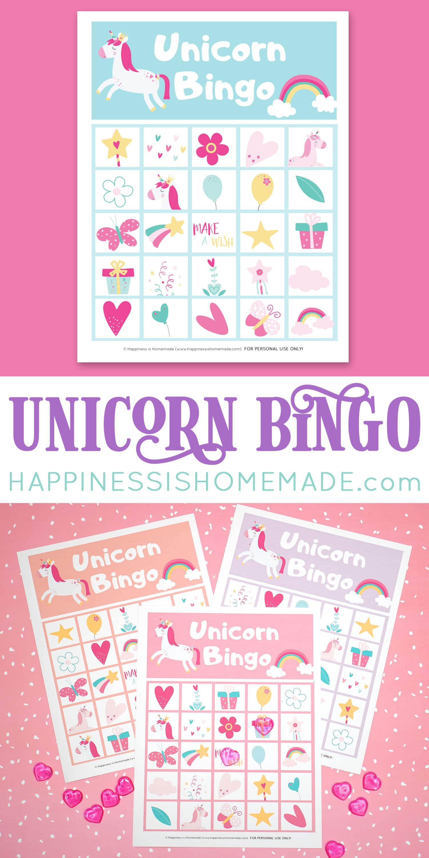 Download Our Free Printable Unicorn Bingo Game Cards To Play This Fun And Colorful Unic Bingo Printable Kids Bingo Printable Free Birthday Party Games For Kids