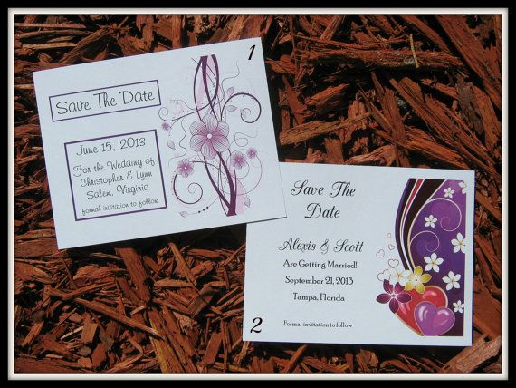 50 Wedding Save The Date POSTCARDS  also by MessagesOfTheHeart