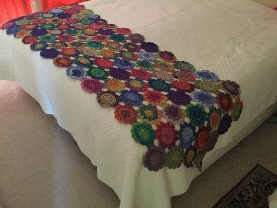 Crochet Bed Runner Handmade Bed Throw Crochet By Jilacrochet