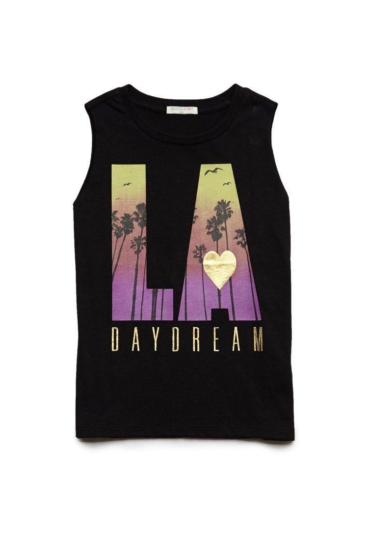 LA Daydream Muscle Tee (Kids) | FOREVER21 #F21Girls