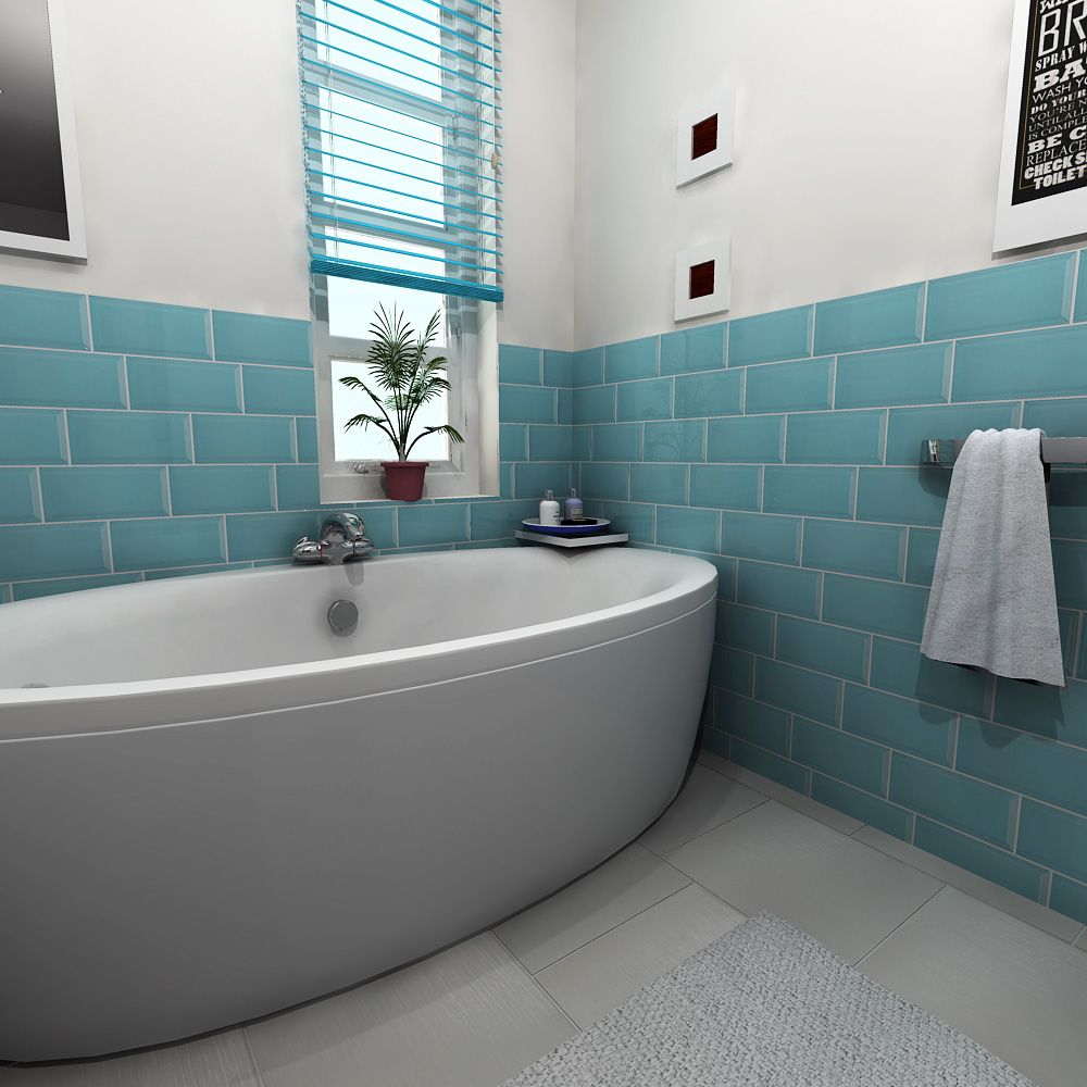 Euston Square Blue Tiles | Walls And Floors