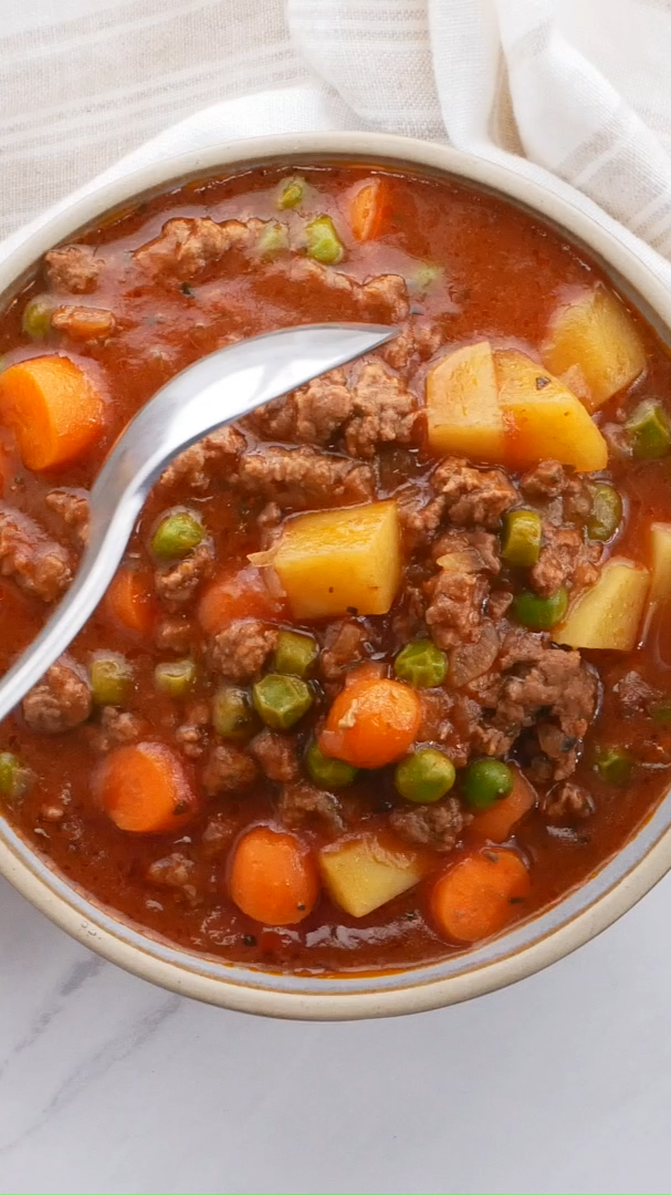 Slow Cooker Ground Beef Stew