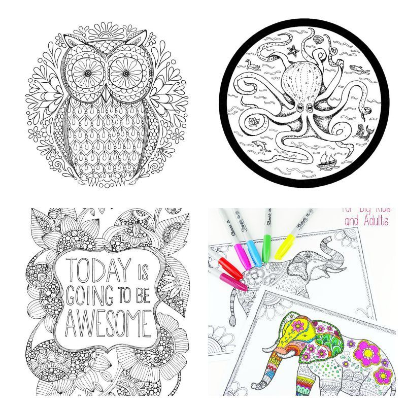 Go forth and de stress with even more adult coloring pages the printable lab