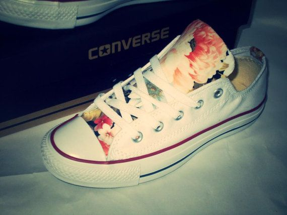 Floral Converse Shoes op Etsy, 62,93€