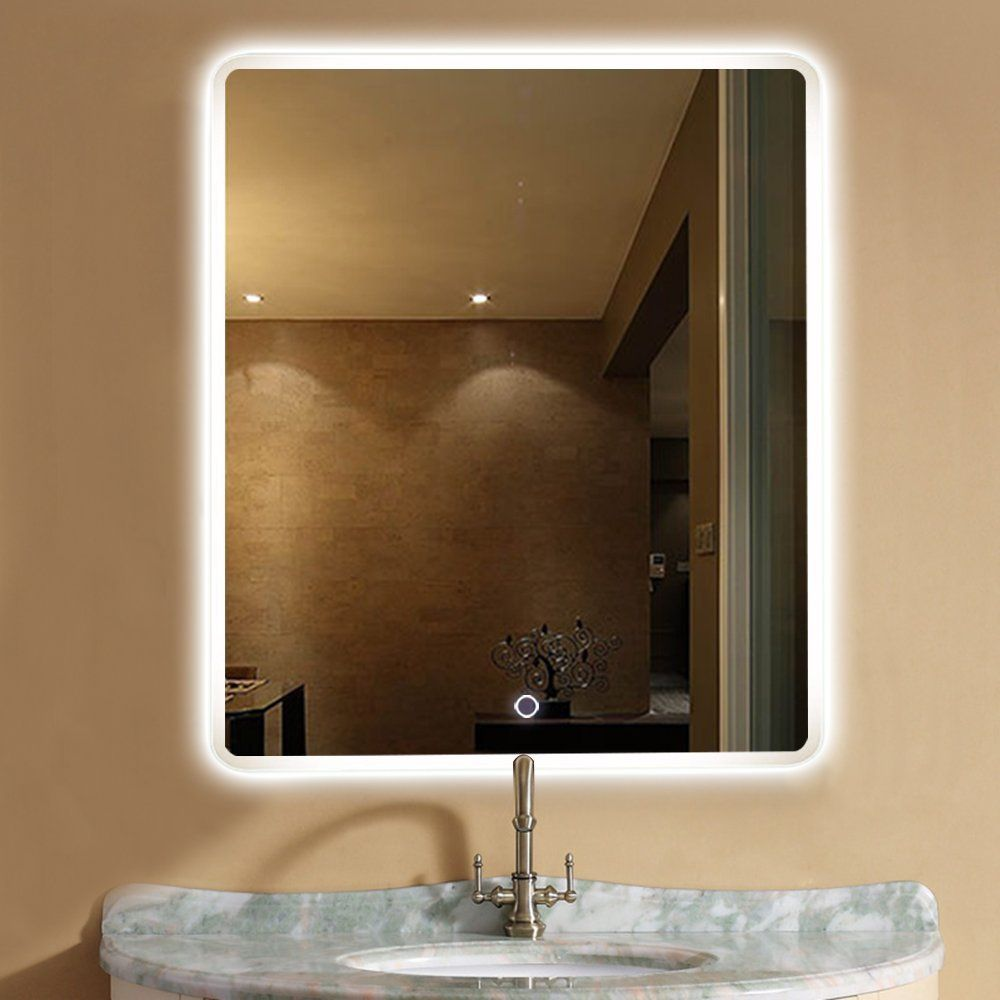 x b lighted w mounted of wall vanity mam mirror led lamps t h the mercial new up amazon grade f light