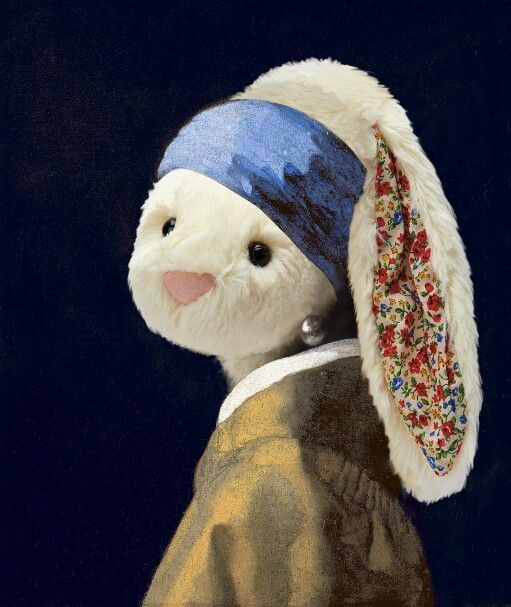 The Snowy With A Pearl Earring Jellycat