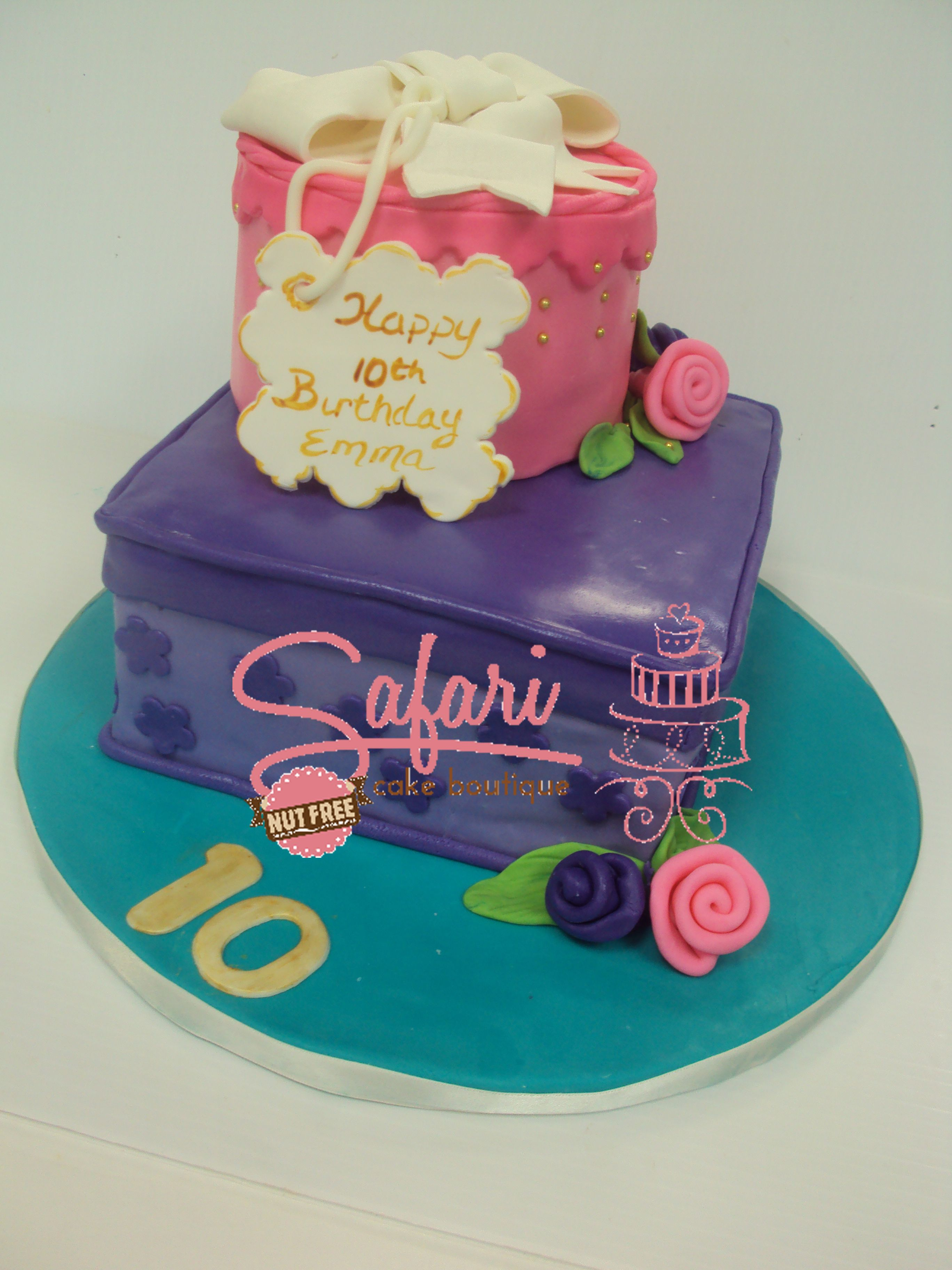 2 Tier Present Cake Birthday Cakes By Safari Cake Boutique