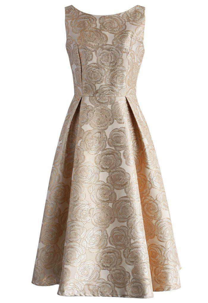 Fanciful Rose Intarsia Prom Dress in Champagne - New Arrivals ...