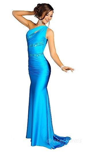 Sheath Satin Asymmetric Long Dress Charm86602 -  OMC!!! I LOVE THIS ONE!!! :DD Favorite EVER!!