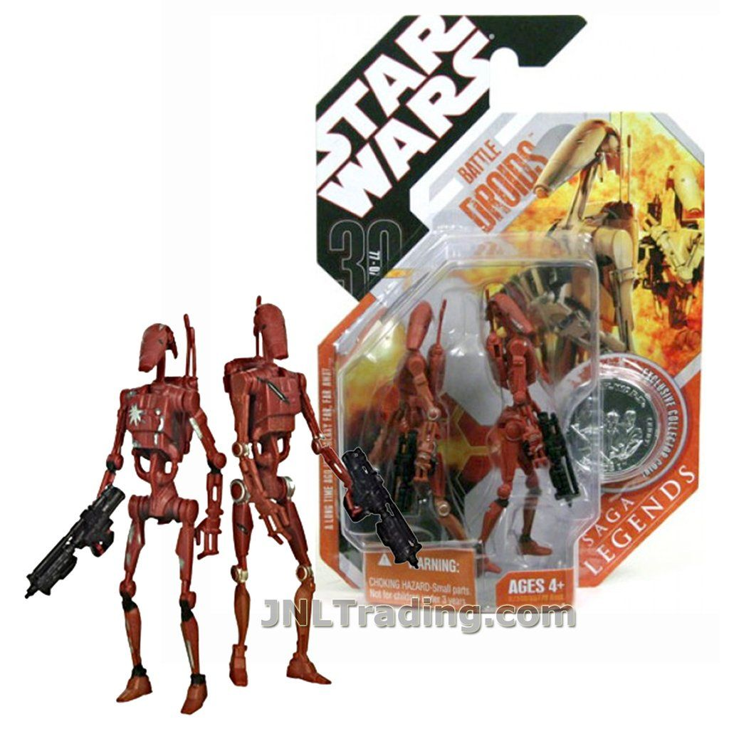 Battle Droids TAN Variant 2007 STAR WARS 30th Anniversary Collection MOC