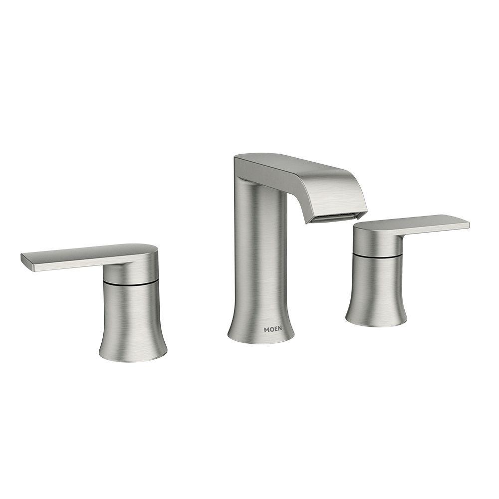 Genta 8 Inch Widespread 2 Handle Bathroom Faucet In Spot Resist