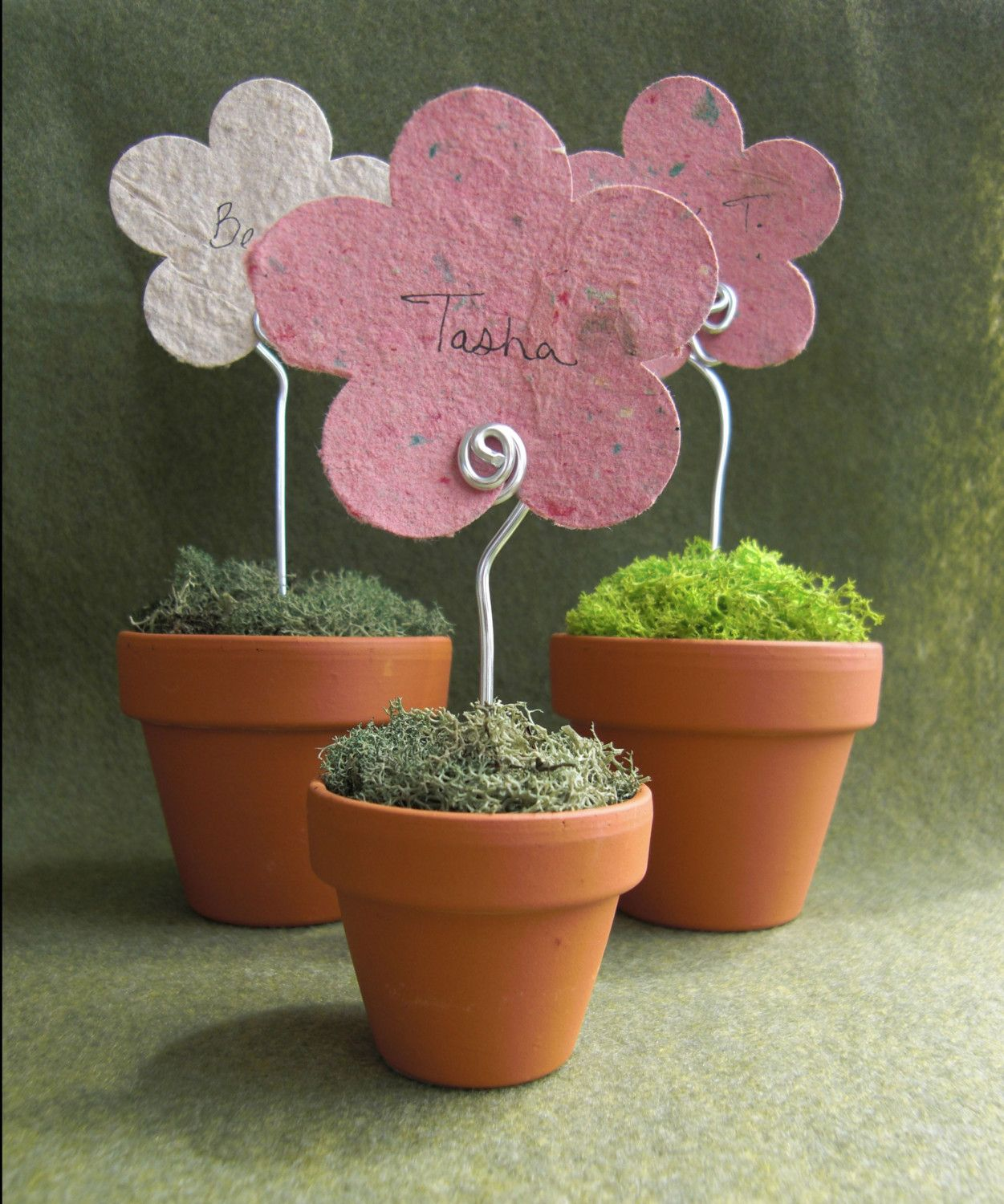 Mini Flower Pot Place Card Holder Place Card Minis And Flower