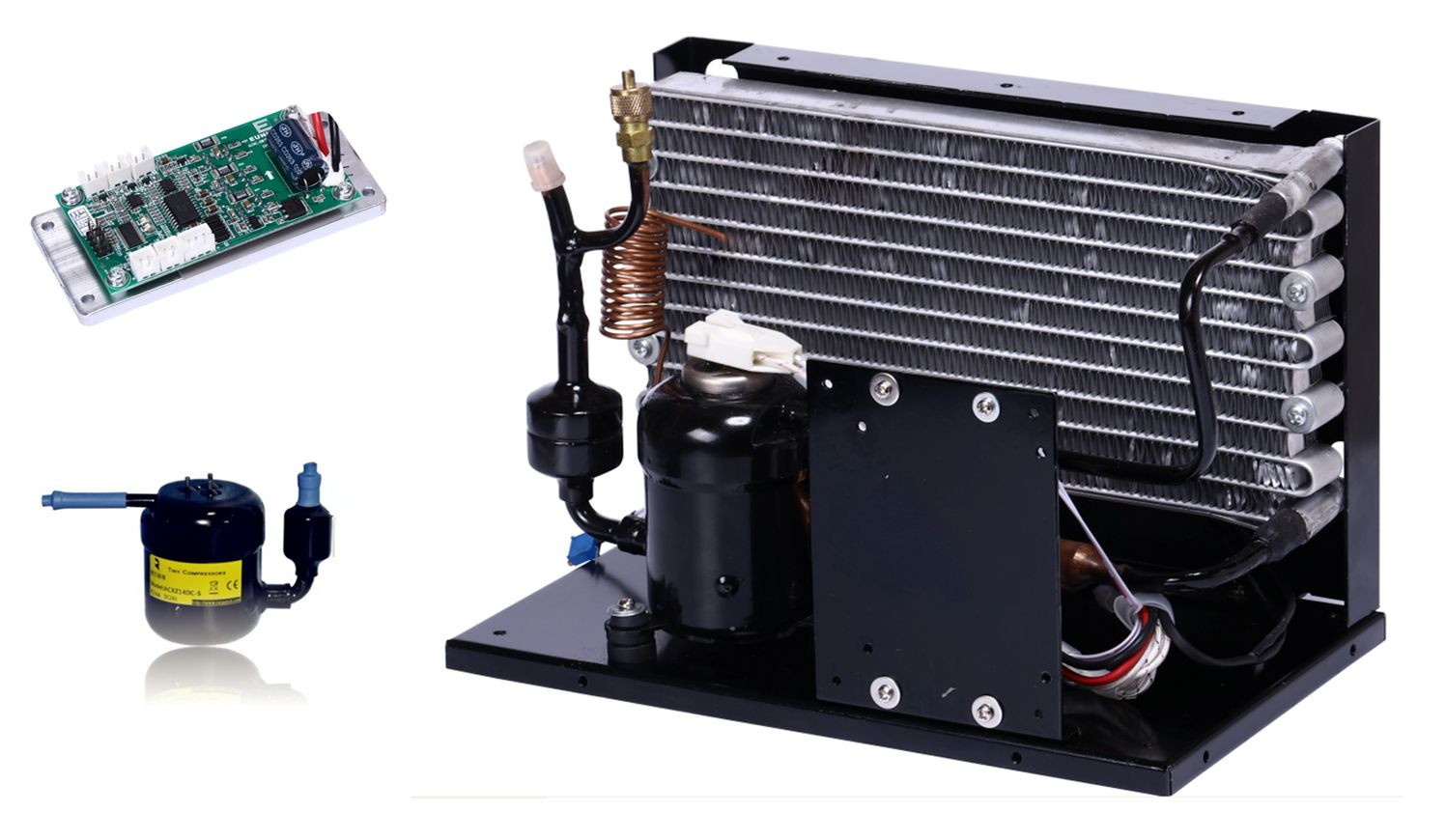 The Smallest Portable Powerful Dc Compressor Condensing Unit Dc 12v 24v 48v Power C Refrigeration And Air Conditioning Battery Powered Air Conditioner Rv Hacks