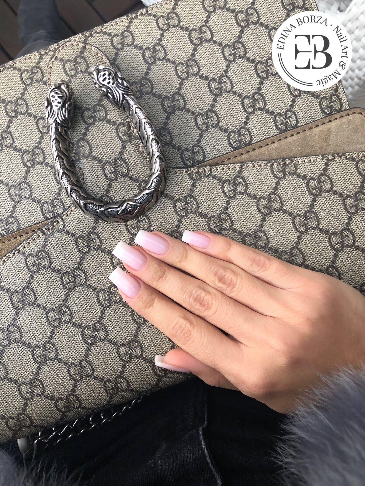 Soft nude babyboomer natural nails 2018 spring summer | Nails Edina ...