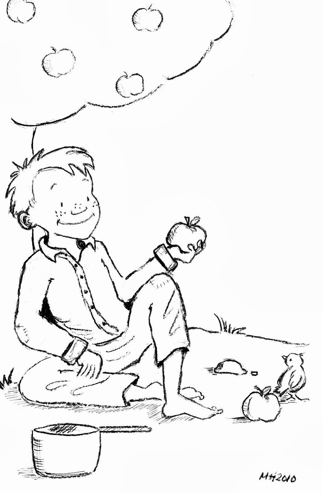 Johnny Appleseed Color Pages  michelle henninger  Coloring pages