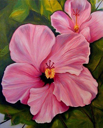 Flower Paintings Tropical Oil By Janis Stevens