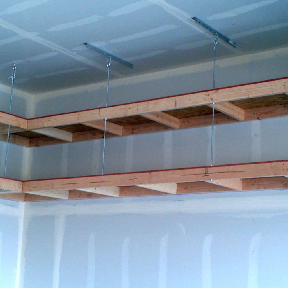 garage overhead mightyshelves alternative hardware methods | garage