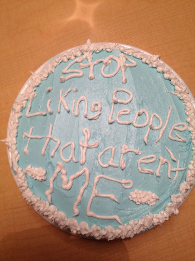 Photo of This cake that says what we all want to say, honestly.