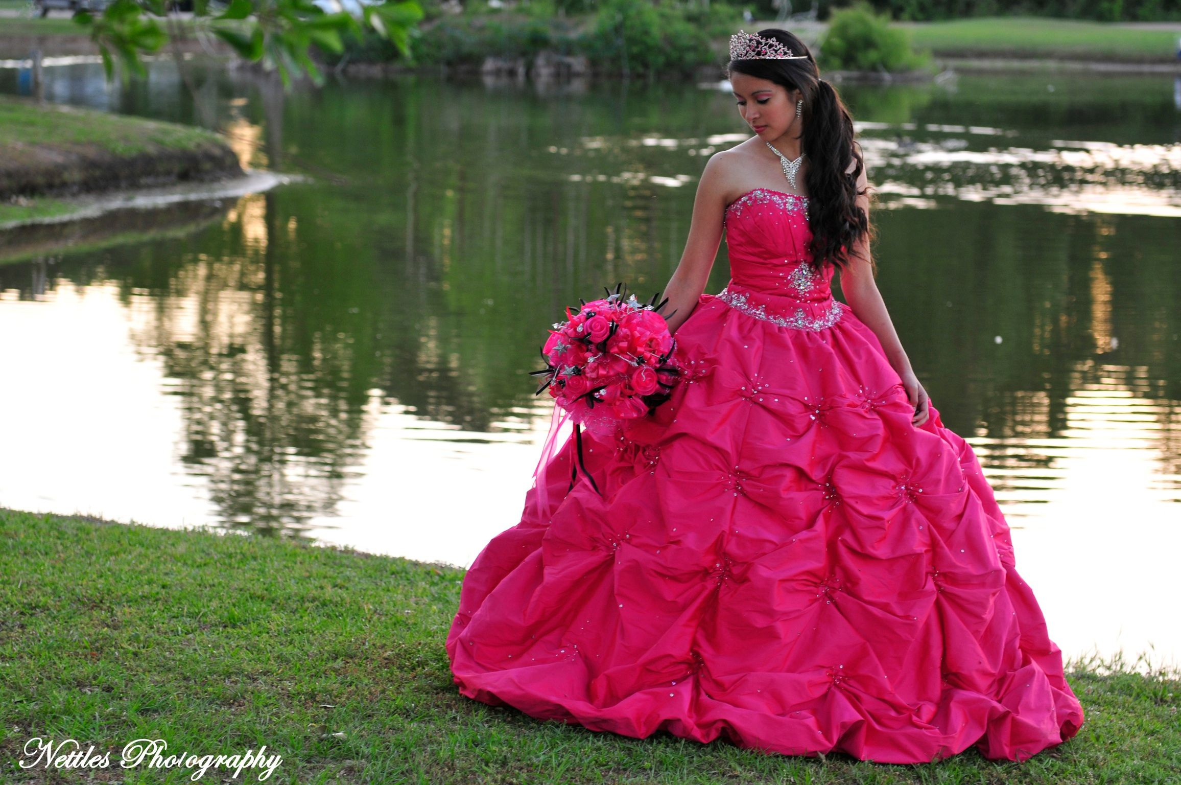 15 Anos Dresses Pink: Quinceanera. Love The Pose And The Dress!