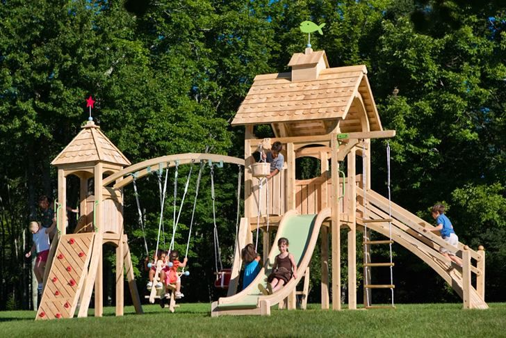 Green Design Innovation Architecture Green Building Playset Outdoor Kids Playset Outdoor Wooden Swing Set