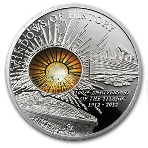 Cook Islands 2012 Windows Of History 100th Anniversary Titanic Silver Coin