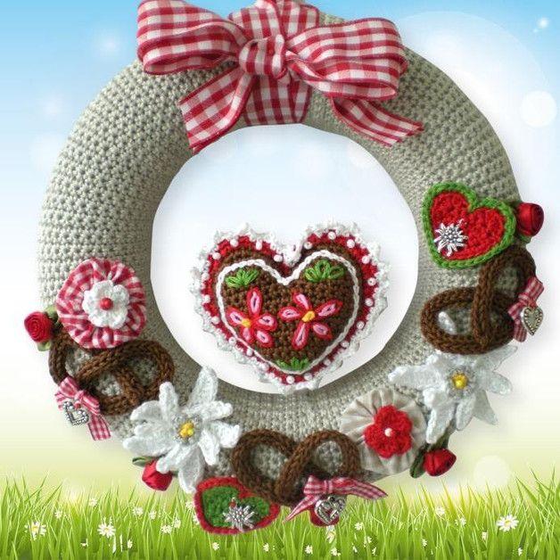 Photo of Crochet patterns – crochet pattern door wreath Oktoberfest – a designer piece of …