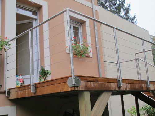 Terrasse sur pilotis en Teck, maison isolation par extérieur - Terrasse Sur Pilotis Metal