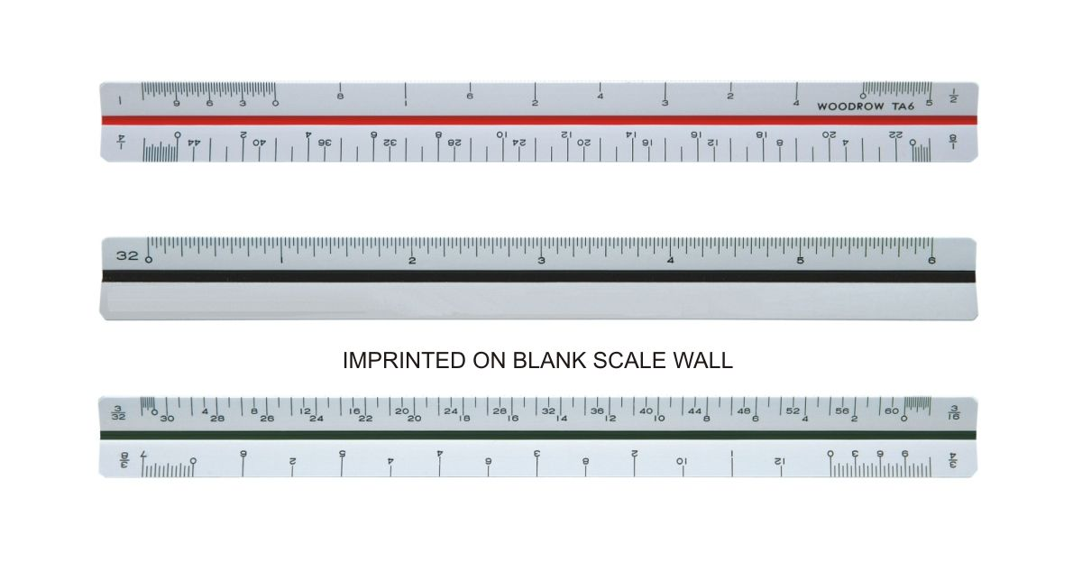 Architectural Scale Ruler Ta 6 6 Architectural Triangular Ruler Woodrow Engineering Architectural Scale Engineering Scale Woodrow