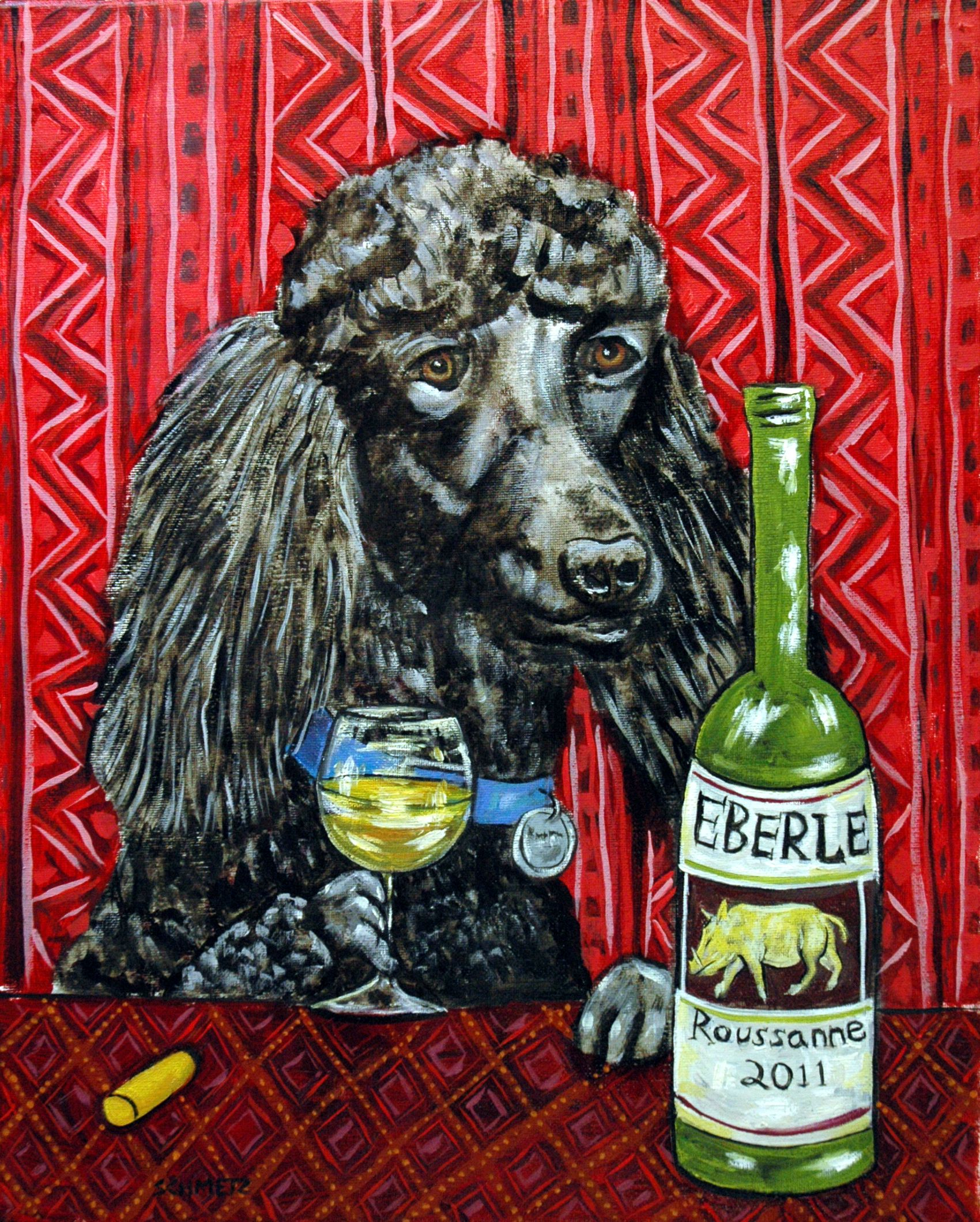 Wine Counter Dog Rou At Eberle Winery In Paso Robles California Paso Robles Wine Store Wine Tasting