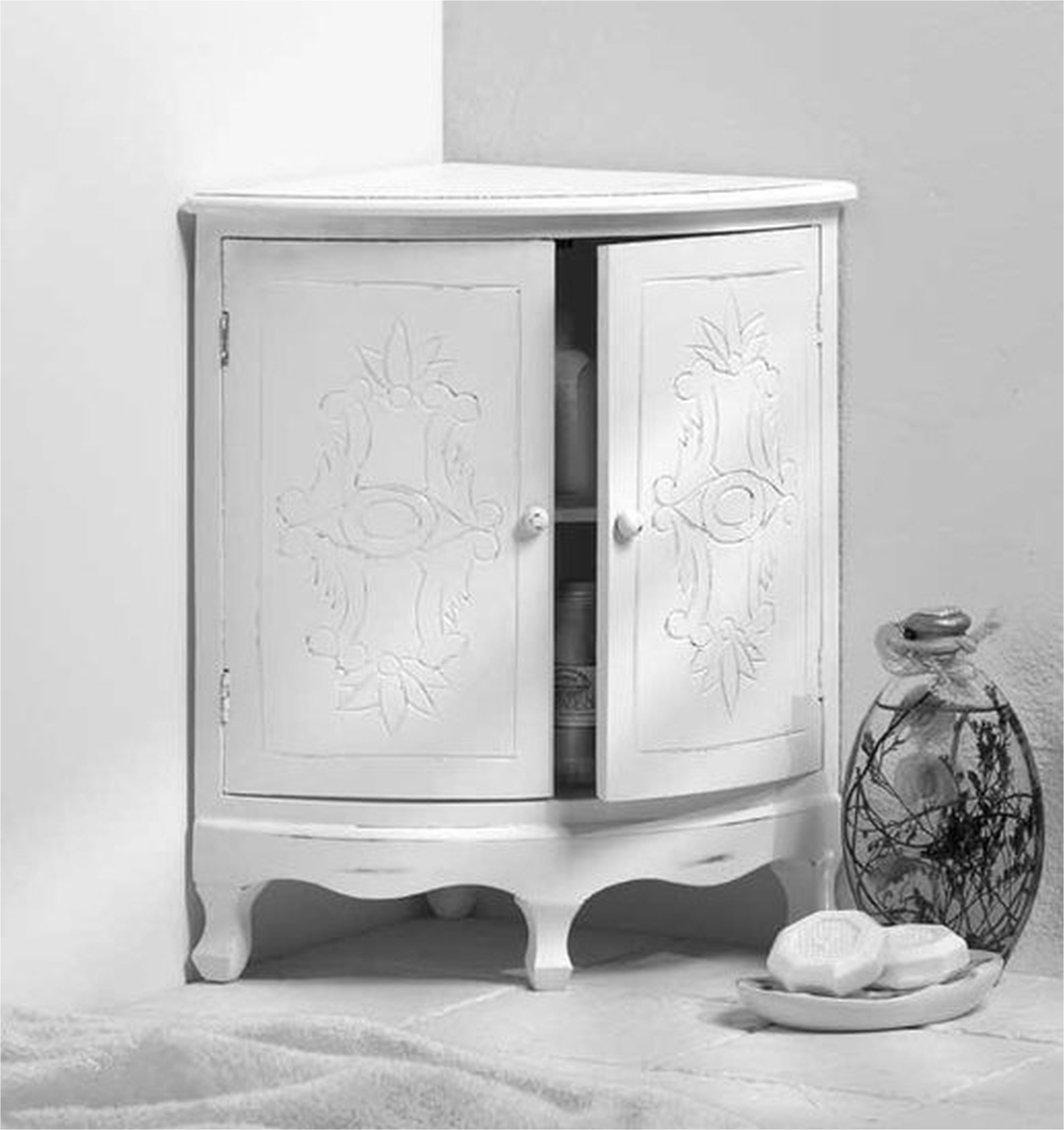 Bathroom Cabinets White Bathroom Floor Cabinet Tall Skinny from ...