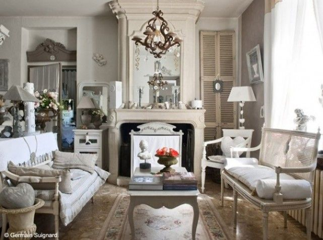 Cheminee salon classique | Country French Fireplaces | Pinterest ...