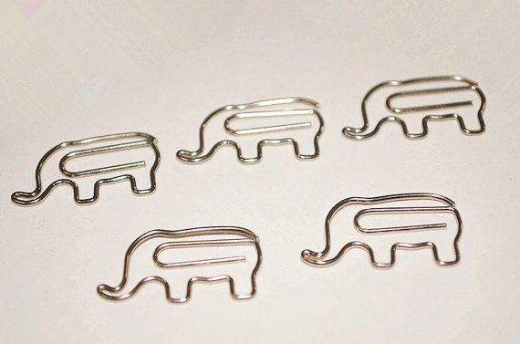 5 Stk süße Büroklammern Elefanten geformt Büroklammern von Yeestore