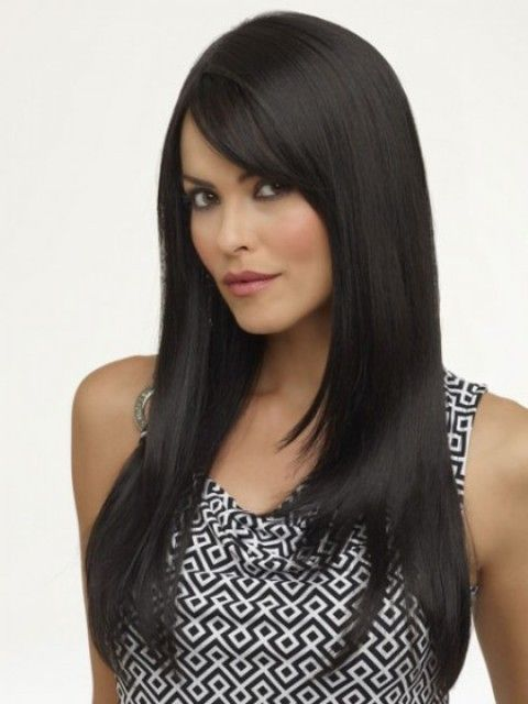 SIDE SWEPT BANGS - 16 Long Hairstyles with Side Bangs  b617098f1c6