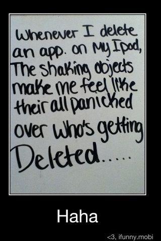 Don't worry apps. It's okay. Haha.
