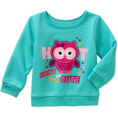 Garanimals Newborn Baby Girls' Graphic Fleece Top, Newborn Girl's, Size: 6 - 9 Months, Green