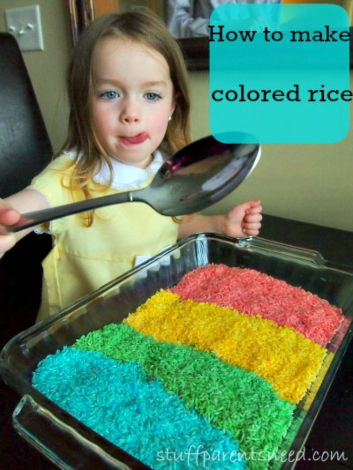 This was one of my preschooler's favorite activities! We made colored rice (also called rainbow rice) and it was an awesome sensory experience! Tutorial in the post. It's easy, I promise!