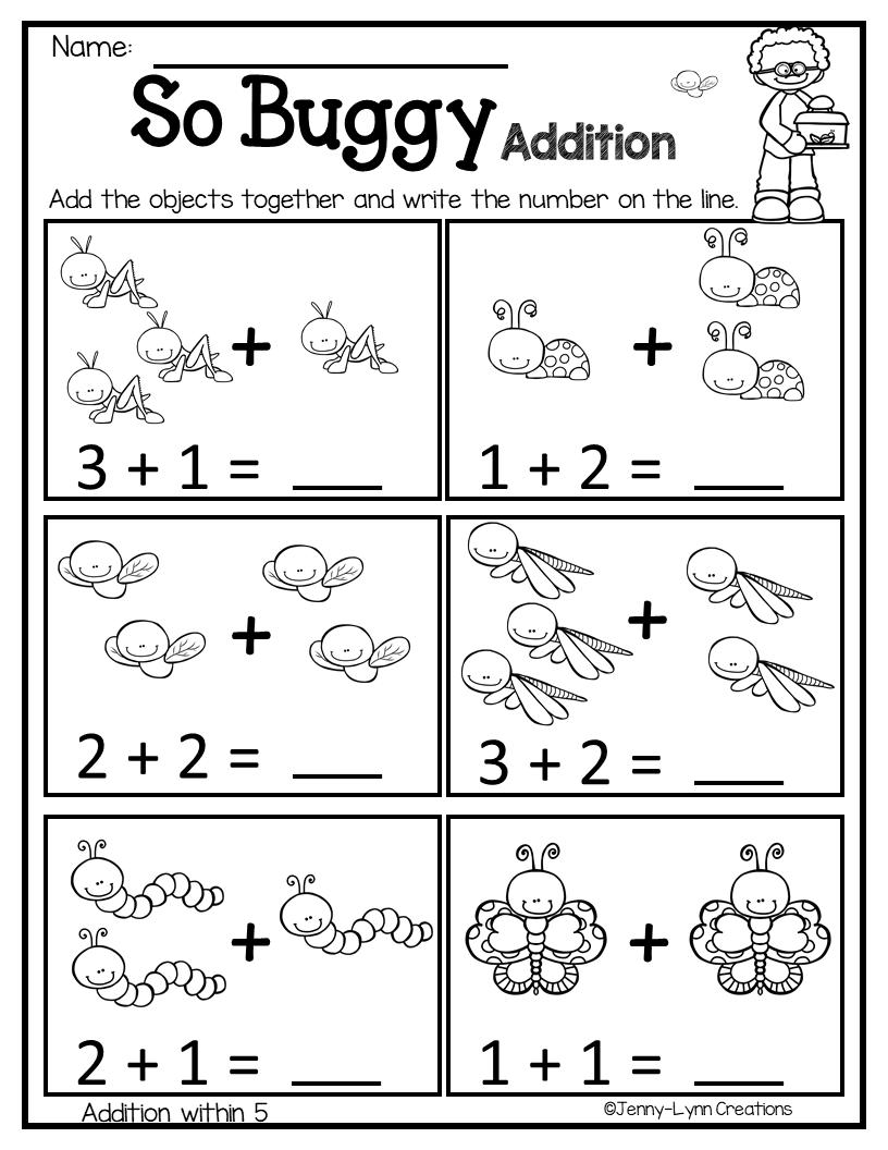 March Math Literacy No Prep Kindergarten Math Worksheets Addition Kindergarten Math Worksheets Math Literacy [ 1056 x 816 Pixel ]
