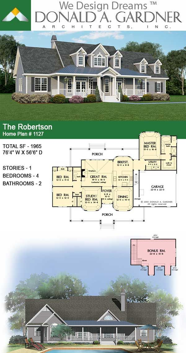 Take a quick look at The Robertson house plan 1127!  #wedesigndreams #dongardnerarchitects #architecture #architect #houseplan #homeplan #dreamhouse #dreamhome #floorplans #newhome #newhouse