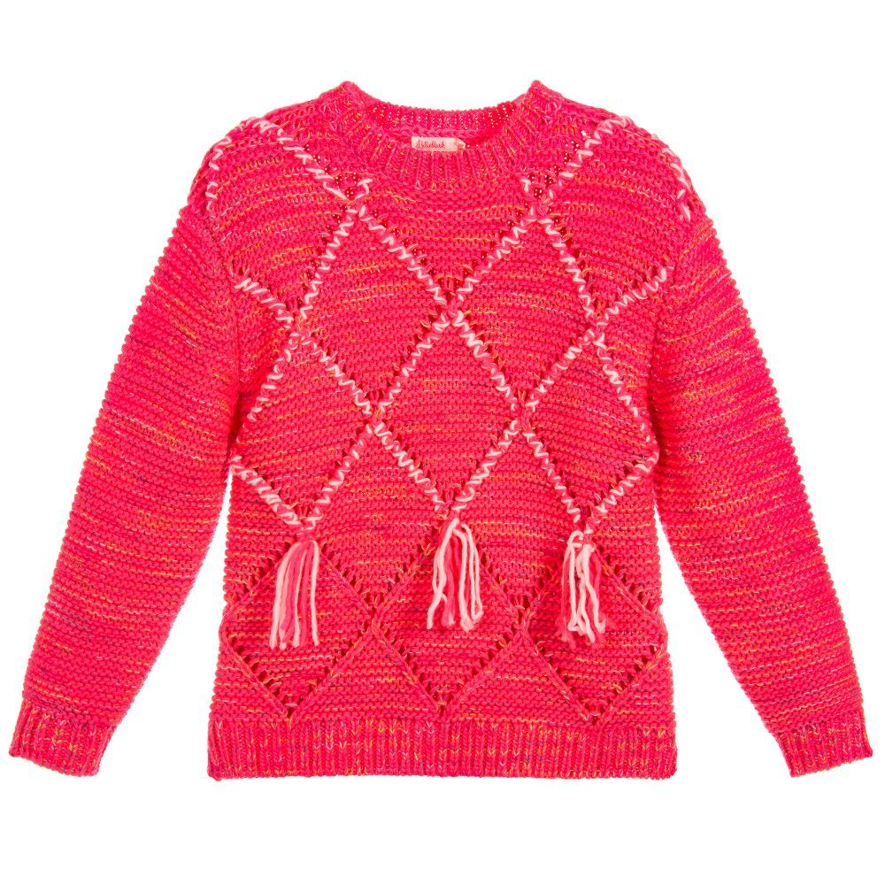 7567d6bd3c2d Billieblush - Girls Pink Knitted Sweater