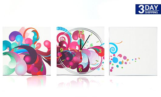 Get 42% #discount on Pink Blast Poster Clock #homedecor