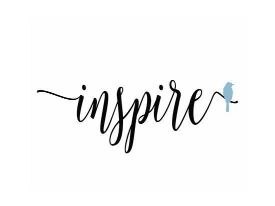 Inspire Blue Bird Poster by Tara Moss One word quotes
