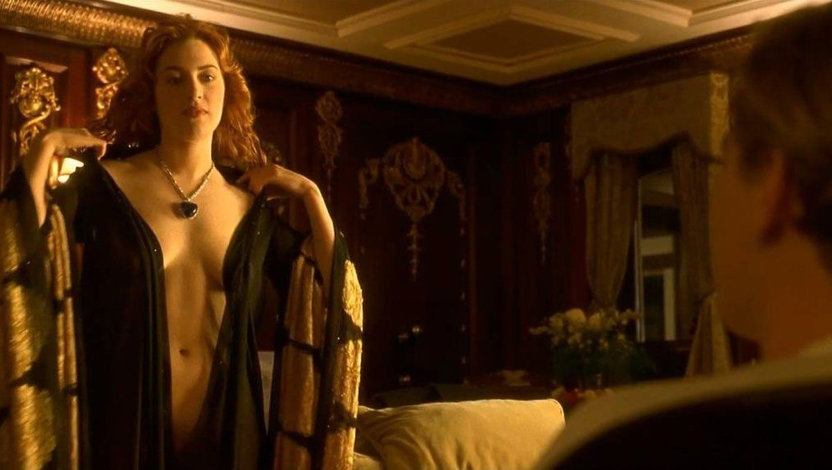El fantástico topless de Kate Winslet en Titanic