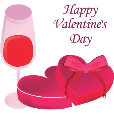 Valentines Wine And Chocolate Symbols Wines And Chocolate