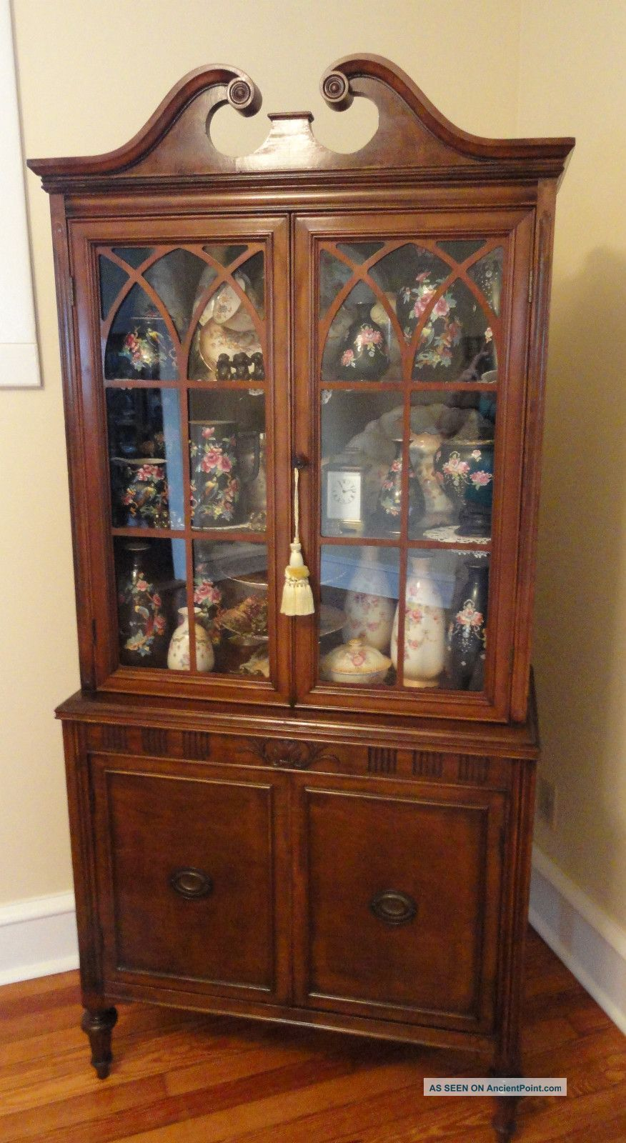 Antique 1930 ' S American Chippendale Style China Display ...
