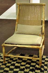 La Chauffeuse Oud En Bois D Olivier Et Corde D Halfa Collection Oud By Tinja Pour Plus De Details Contactez Site Web Www C Home Decor Accent Chairs Decor