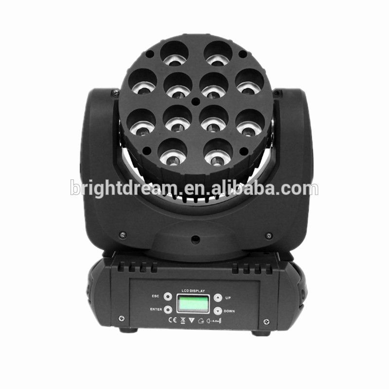 High Quality Lyre Led 12pcs 10w 4 In 1 Rgbw Led Beam Moving Head Stage Light Dmx Conrol T Led Stage Lights Dmx Lighting Cree Led